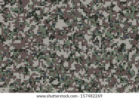 Digital Camouflage For The Background