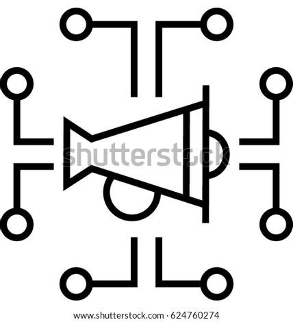 Digital Campaign Vector Icon