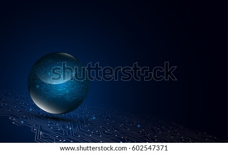 digital circuit globe communication technology networking concept background