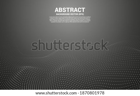 Digital Contour curve line and wave with wireframe . Abstract Background for 3D Futuristic technology concept Photo stock ©