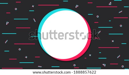 Digital dark background with a colored circle in the center. Modern social networks, trend, page cover, stories. Vector illustration Stock fotó ©
