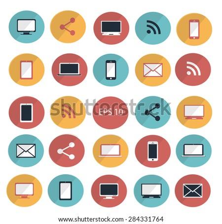 Digital devices icon set vector illustration