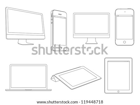 Digital devices.Vector set