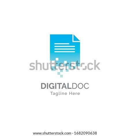 Digital document logo illustration  design vector template Stock photo ©