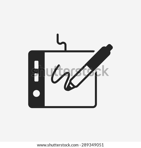 digital drawing board icon