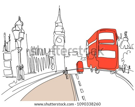 digital drawing of london tower