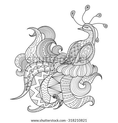 digital drawing zentangle