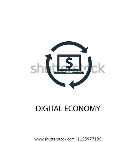 Digital economy creative icon. Simple element illustration. Digital economy concept symbol design from Digital economy collection. Can be used for web and mobile.