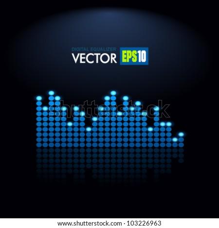 Digital Equalizer. Vector.