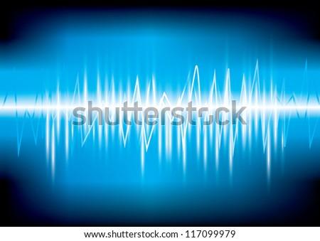 digital equalizer Vector illustration eps 10 (Wave sound media)