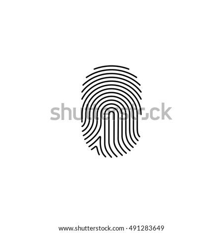 Digital finger print on white background, vector illustration