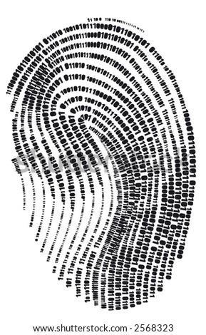 digital finger print   web