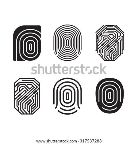 digital fingerprint vector set