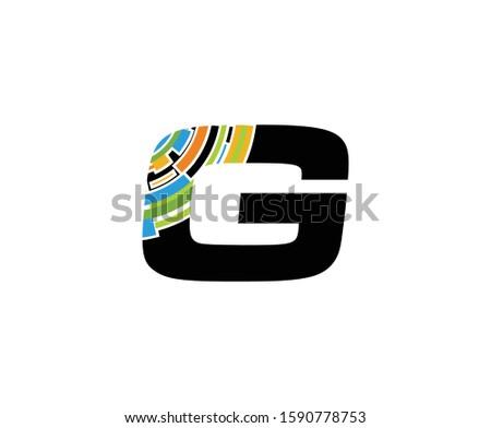 Digital G Letter Technology Logo, Creative G Data Icon.
