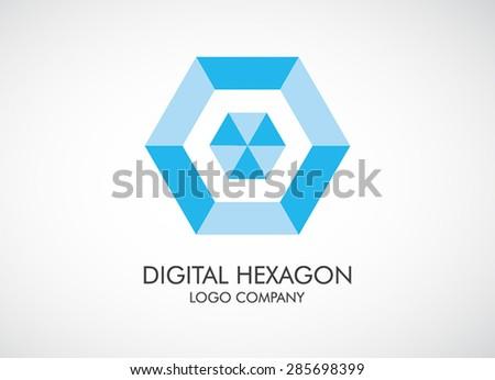 Digital Element Logo Symbol Logo Element Vector