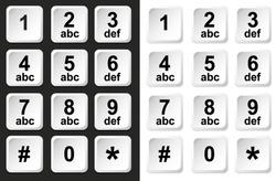 Digital keypad, keyboard, dialer - access vector