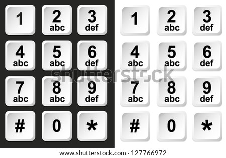 Digital keypad, keyboard, dialer - access vector