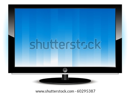 Digital LCD TFT LED monitor - stock vector