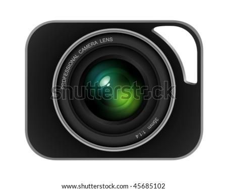 digital lens - stock vector