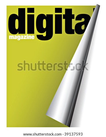 digital magazine with pageflip effect in vectors