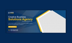 Digital marketing facebook cover and web banner template premium