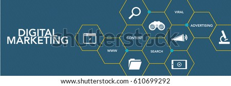 Digital Marketing Icon Concept