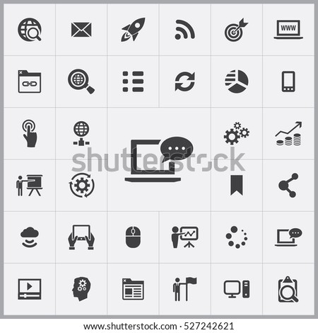 digital marketing icons universal set for web and mobile