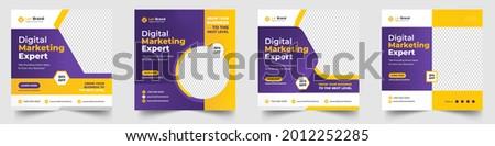 Digital Marketing Social Media Post banner Template, social media post banner design template. business marketing post. Digital marketing agency post banner, Digital marketing expert banner.