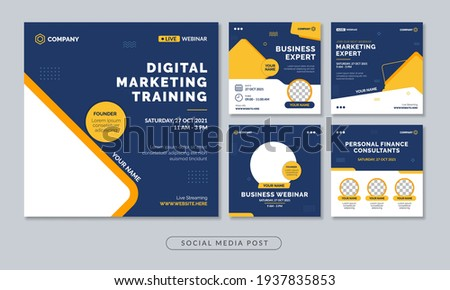 Digital marketing training webinar social media post template