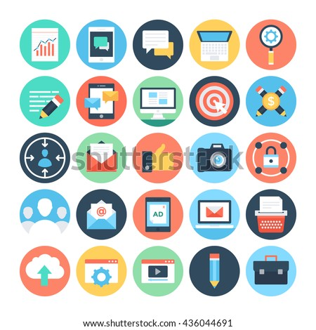 Digital Marketing Vector Icons 1