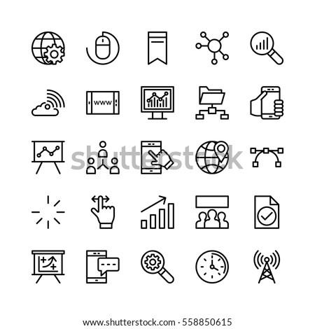 Digital Marketing Vector Icons 2