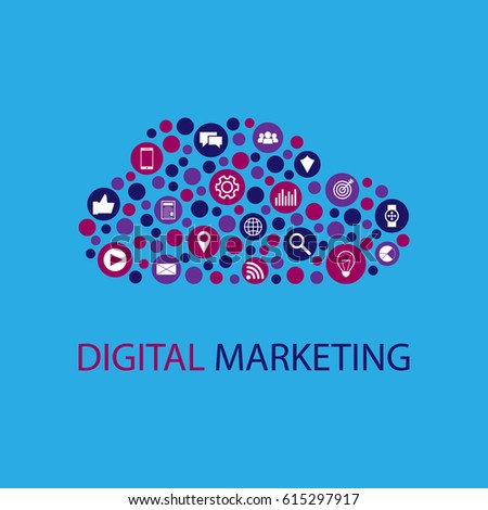 Digital marketing vector illustration