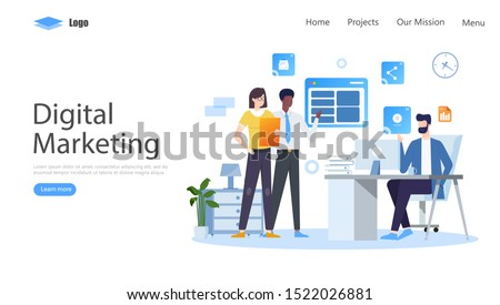Digital Marketing Vector Illustration Concept, Suitable for web landing page, ui, mobile app, editorial design, flyer, banner, and other related occasion