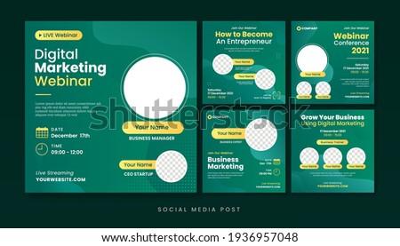 Digital marketing webinar social media post template