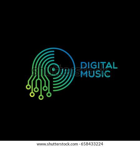 digital music logo template
