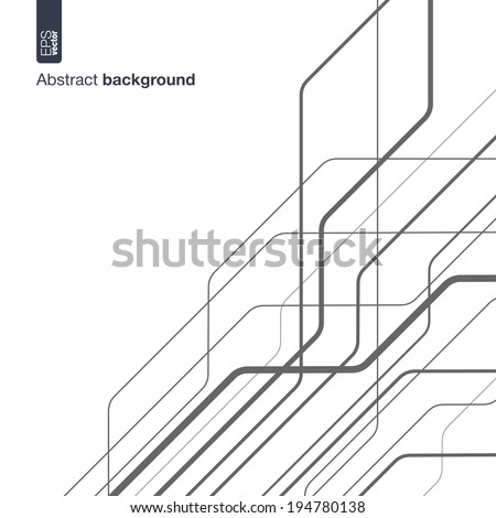 Digital network concept. Vector abstract background with technical lines for presentations, business, web, computer and mobile apps, graphic design: technology circuit in geometric motion