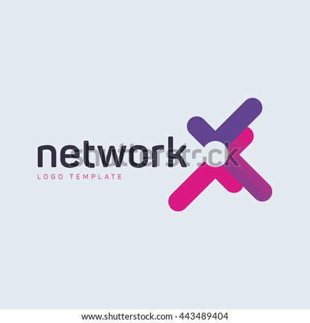 Digital networking logo
