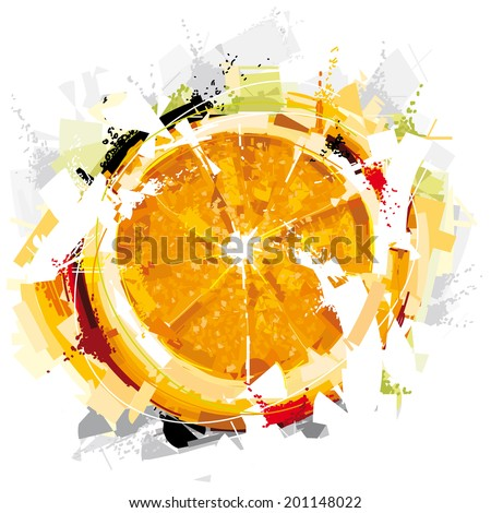 Digital Orange Fruit