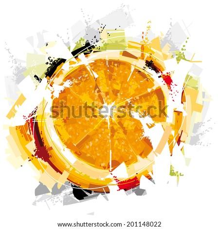 Digital Orange Fruit