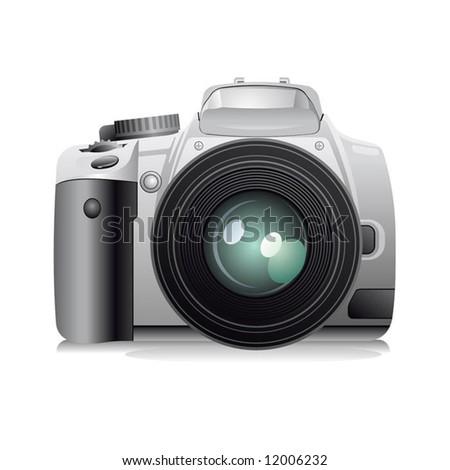 Digital photo camera, vector illustration