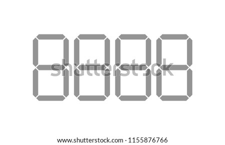 Digital price tag digits or numbers vector template for shop or supermarket. Store price labels for retail display or sale self fill