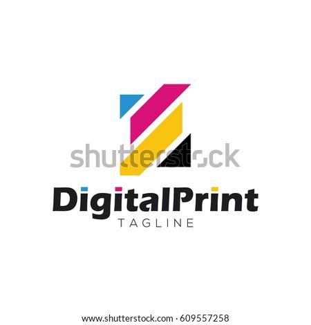 digital print logo design...