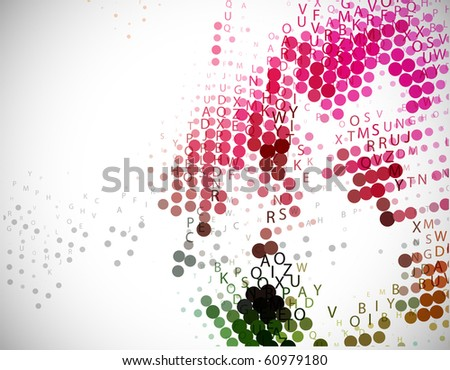 Digital program code for halftone background, vector illustration.
