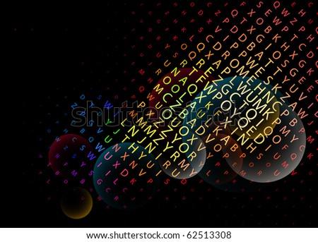 Digital program code, vector illustration.