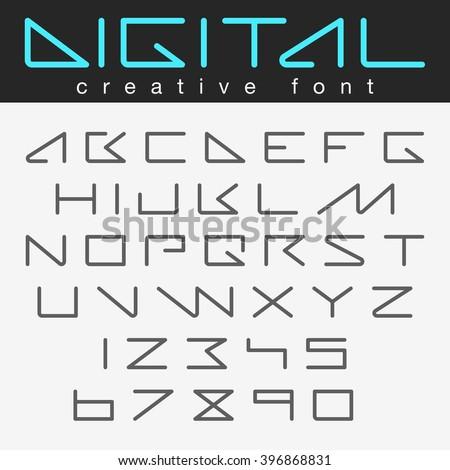 digital robot futuristic font