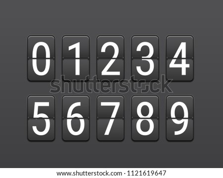 Digital scoreboard layout. Infographic vector template