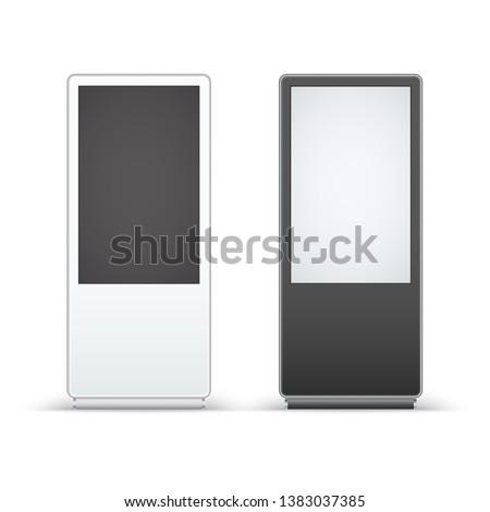 Digital signage isolated on white background. Mockup to advertising. Vector illustration