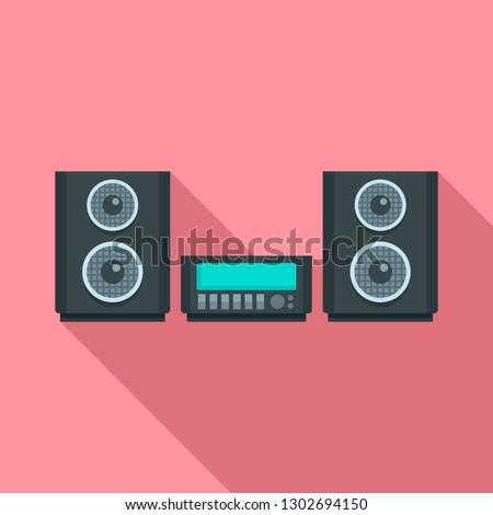 Digital stereo system icon. Flat illustration of digital stereo system vector icon for web design