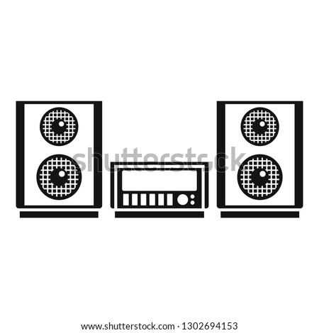 Digital stereo system icon. Simple illustration of digital stereo system vector icon for web design isolated on white background