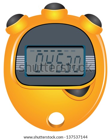 digital stopwatch with four